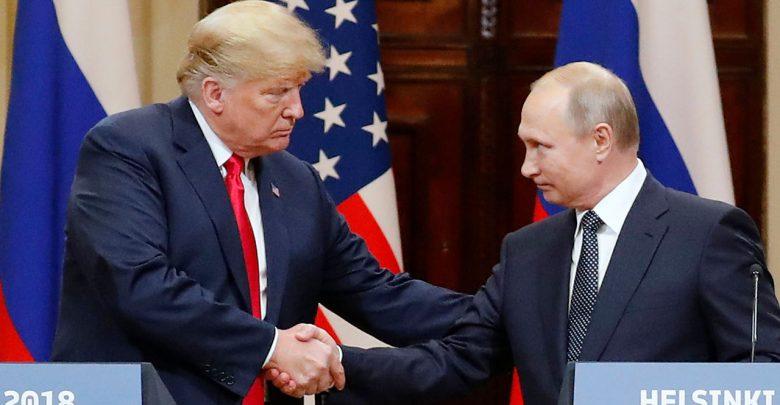 Trump and Putin at the 2018 Helsinki Summit