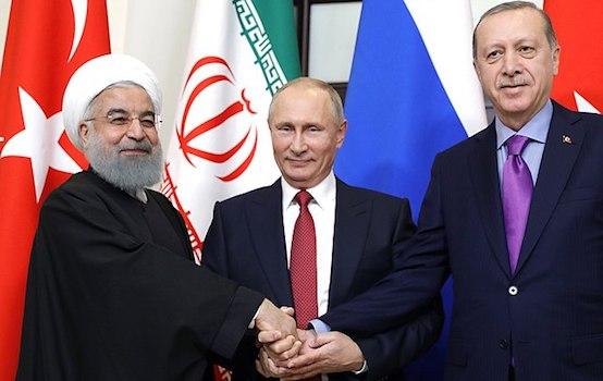 Rouhani Putin Erdogan, 2017