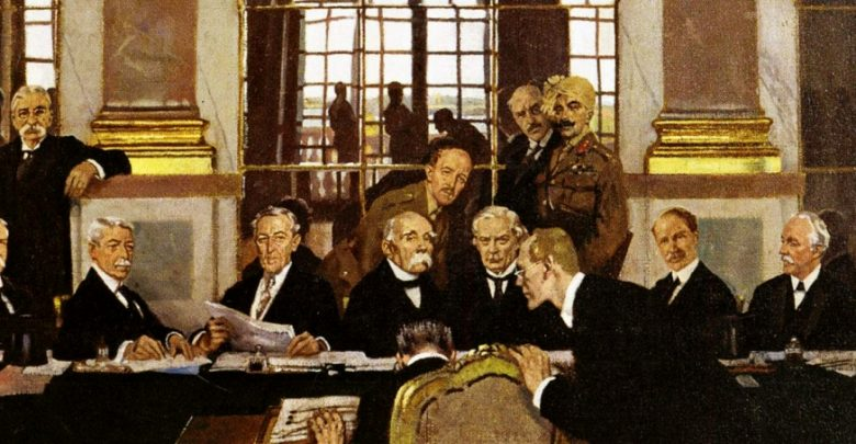 Treaty of Versailles Painting