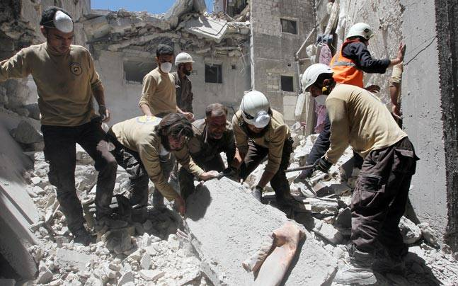 UN White Helmets in Syria