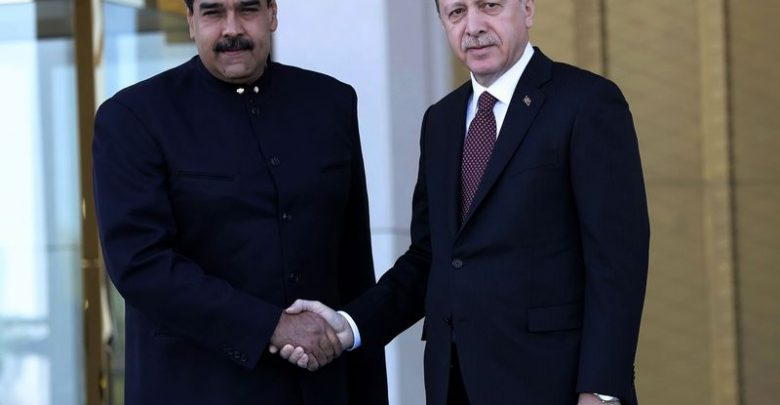 Maduro, Erdogan in Turkey